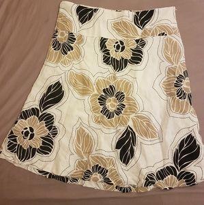 H & M fresh floral linen skirt